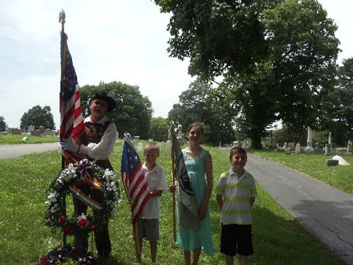 The MOSSAR Color Guard team participated in a Memorial Day event  located at Elmwood Cemetery in Kansas City, MO. The MOSSAR Color Guard Team assisted with the retiring of the U.S. Flag to the Boy Scouts. The Boy Scouts then gave a new flag to the Elmwood Cemetery KC, MO.