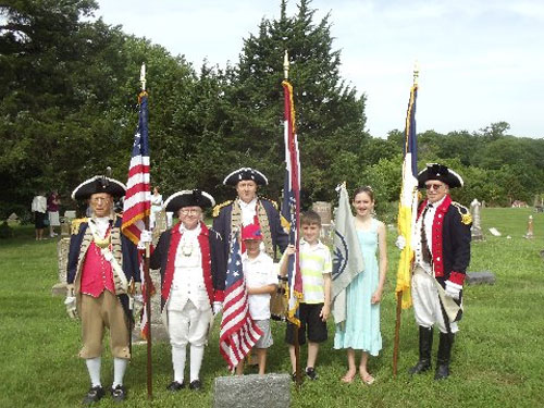 The MOSSAR Color Guard team participated in a War of 1812 Patriot Grave Dedication event for Private Isaac Gann, which was located at Mc Kendree Cemetery in Lafayette County, near Odessa, MO. The MOSSAR Color Guard Team presented the National Colors for the James Kearney Chapter, State of Missouri, National Society United States Daughters of 1812.