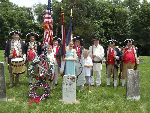 The MOSSAR Color Guard team participated in a War of 1812 Patriot Grave Dedication event for Private Sebastion Poisal, which was located at Mount Hope Cemetery in Lafayette County, near Waverly, MO. The MOSSAR Color Guard Team presented the National Colors for the James Kearney Chapter, State of Missouri, National Society United States Daughters of 1812..