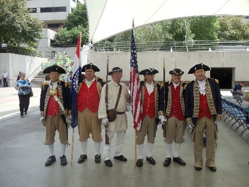 The MOSSAR Color Guard team is shown here after participating in a Patriotic Concert at Hallmark Cards in Crown Center Thursday, June 26, 2014. The MOSSAR Color Guard presented the colors at the beginning of the Patriotic Concert.