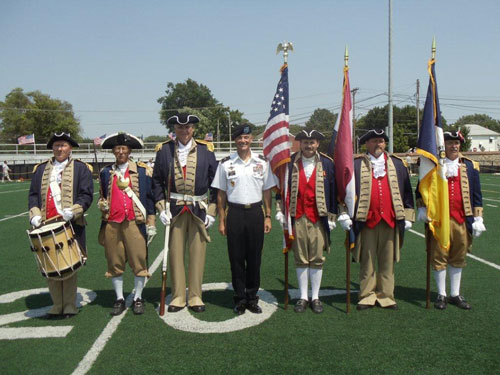 The MOSSAR Color Guard Team is shown here with Brigadier General Gordon B. (Skip) Davis Jr., Deputy Commandant, Fort Leavenworth, KS.  The team participated at the Closing Ceremony each day on June 28 - July 1, 2012 at ''he Wall That Heals'' which was held at North Kansas City High School Footbal Stadium in North Kansas City, MO. It is estimated that over 15,000 people attended this event over the four day period.