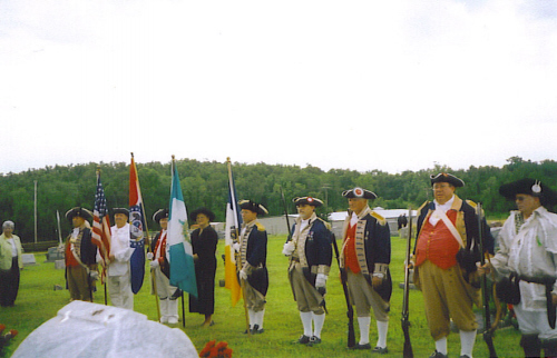 Pictured here is the MOSSAR Guard at Past President Bob E. Comer's funeral at Hopewell Christian Church Cemetery located near Barnett, Missouri on July 2, 2008.