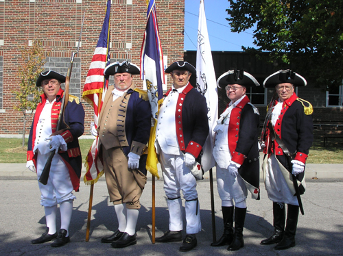 Shown here is the MOSSAR Color Guard Team, who participated at the 14th Annual Fourth of July Celebration, in which they marched in the Fourth of July 2012 Parade in Eldon, MO on Wednesday, July 4, 2012.