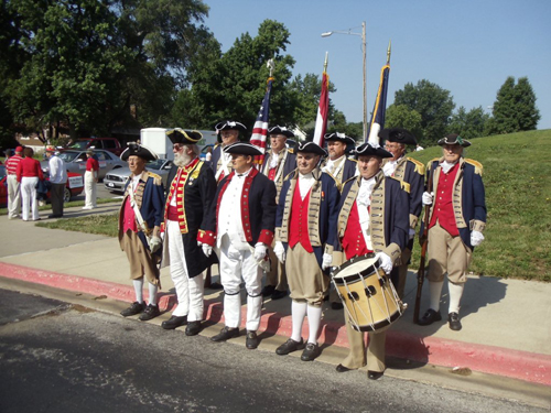 Shown here is the MOSSAR Color Guard Team, who participated at the Fourth of July 2013 Parade in Liberty, MO on Thursday, July 4, 2013.