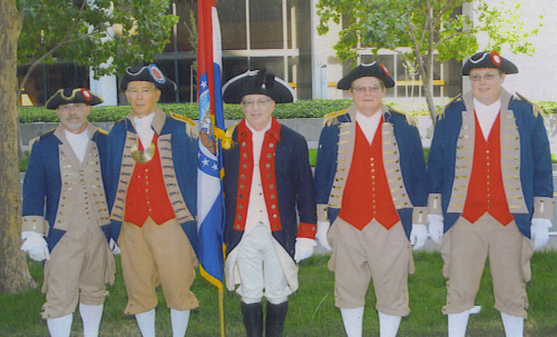 The MOSSAR Color Guard is shown here participating in the 118th NSSAR Congress at the Hyatt Regency in Sacramento, CA on July 5-9, 2008.