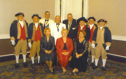 The MOSSAR Color Guard is shown here in a group photo with several spouses, participating in the 118th NSSAR Congress at the Hyatt Regency in Sacramento, CA on July 5-9, 2008.