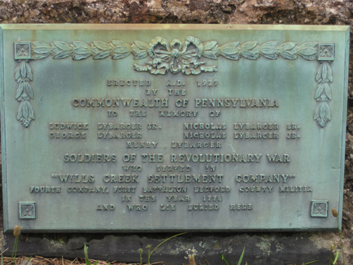 Pictured here is the Lybarger Revolutionary War Memorial Marker in Madley, Pennsylvania.