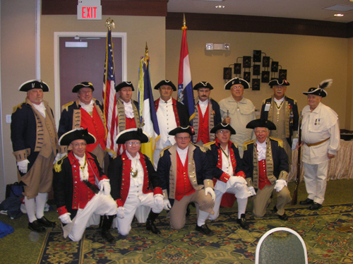 Pictured here is the MOSSAR Color Guard at the MOSSAR Board of Directors Meeting in Columbia, MO on Saturday, July 28, 2012.