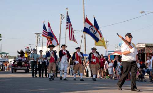 Pictured here is the MOSSAR Color Guard team at the Missouri State Fair in Sedalia, MO on Wednesday, August 8, 2012.