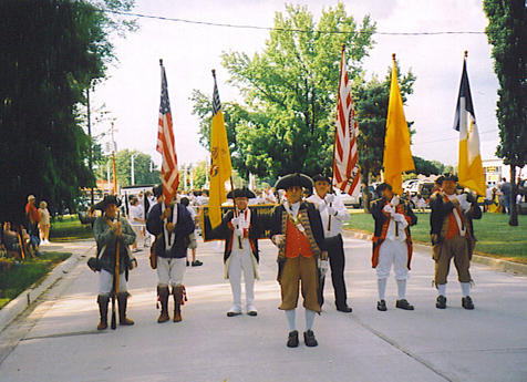 Pictured here is the MOSSAR Color Guard team at the Missouri State Fair in Sedalia, MO on Thursday, August 13th, 2009