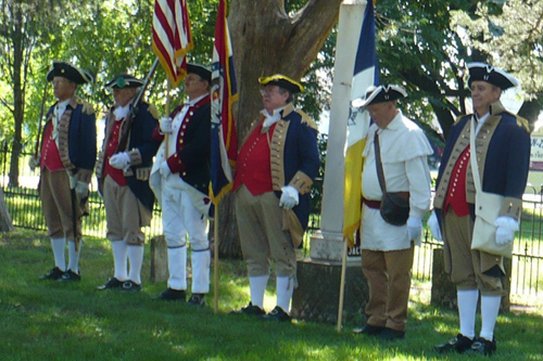Pictured here is the MOSSAR Color Guard team participating in the he 50th Anniversary Battle of Lone Jack Museum Dedication,  Lone Jack, MO on August 17, 2013.