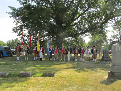 The MOSSAR Color Guard team participated in the Missouri DAR Dedication of Jane E.Clay Tribue, wife of Revolution War Patriot Edward Tribue located at Barkley Cemetery on Saturday, August 31st, 2013 in New London, Missouri.
