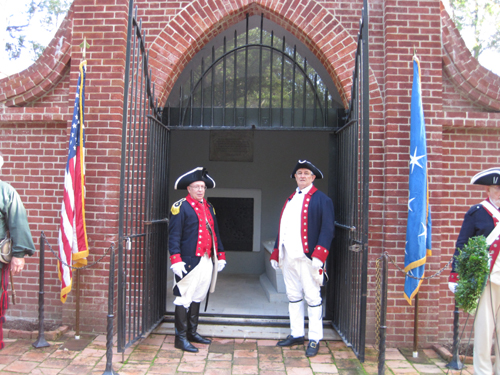 Pictured here is the MOSSAR Color Guard team, who also participated with the National Color Guard, stood vigil at George Washington's Tomb on the grounds of Mount Vernon in Virginia on Saturday, September 8, 2012.