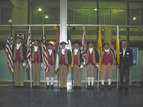 Pictured here is the MOSSAR Color Guard team from the Kansas City area, who are shown here at the Honor Flight Greeting for WWII Veterans at Kansas City International on Tuesday evening, September 11, 2012.