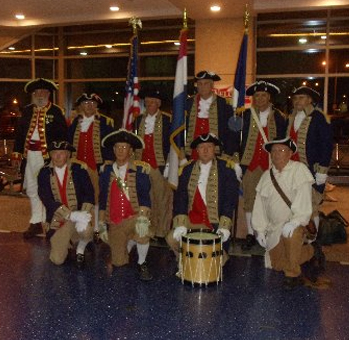 Pictured here is the MOSSAR Color Guard team from the Kansas City area, who are shown here at the Honor Flight Greeting for WW II Veterans at Kansas City International on Wednesday evening,  September 11, 2013.