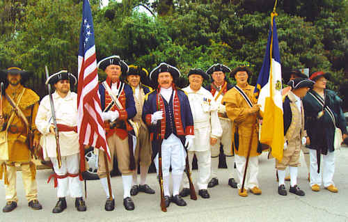 The MOSSAR Color Guard Team participated with the Missouri DAR and John Guild DAR Chapter on Sunday, September 20th, 2009, in unveiling of a bronze marker placed at the entrance of the former Ste. Genevieve Academy.  The Academy is  the site of the first school started by the government west of the Mississippi River and opened in 1808. This event completes a five-year attempt, made possible by the current owner, Frank Rolfe. The Allen Laws Oliver SAR Chapter from Cape Girardeau, MO; Fernando de Leyba Chapter from St. Charles, MO; and Spirit of St. Louis Chapter from St. Louis, MO  attended in attire from the Revolutionary Era.