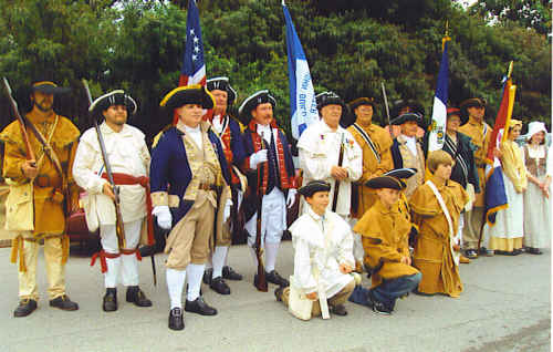 The MOSSAR Color Guard Team participated with the Missouri DAR and John Guild DAR Chapter on Sunday, September 20th, 2009, in unveiling of a bronze marker placed at the entrance of the former Ste. Genevieve Academy.  The Academy is  the site of the first school started by the government west of the Mississippi River and opened in 1808. This event completes a five-year attempt, made possible by the current owner, Frank Rolfe. The Allen Laws Oliver SAR Chapter from Cape Girardeau, MO; Fernando de Leyba Chapter from St. Charles, MO; and Spirit of St. Louis Chapter from St. Louis, MO  attended in attire from the Revolutionary Era