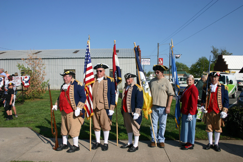 Pictured here is the MOSSAR and KSSSAR Color Guard teams, who participated in Lincoln Days, located at Lincoln City Park, in Lincoln City, Missouri on Saturday, September 29, 2012. The Clolor Guard participated in the opening ceremony, which included the Pledge of Allegiance, Reading of the Proclamation, Preamble, Music by school band, ringing of bells, musket firing team and closing ceremony.