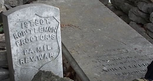 Shown here is the grave markers of Patriot Robert Lemon.