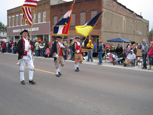 Pictured here is the MOSSAR Color Guard team, who participated at the 32nd Annual Brunswick Pecan Festival Parade on Saturday, October 6, 2012,  in Brunswick, Missouri.