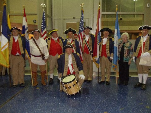 Pictured here is the MOSSAR Color Guard team from the Kansas City area, who are shown here at the Honor Flight Greeting for WW II Veterans at Kansas City International on Tuesday evening, October 8, 2013.