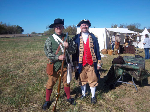 Shown here is the MOSSAR Color Guard Team participating in a Sons of the American Revolution Recruiting Event at the Nathan Boone Homestead Days  located at Ash Grove, Missouri on Saturday, October 15, 2011.