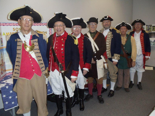 Pictured here is the MOSSAR Color Guard team, who participated at the Inaugural Southwest Missouri Homeschool History Fair on October 19, 2012, at Strong Hall - Missouri State University in Springfield, Missouri.