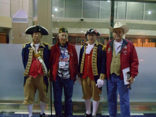 Pictured here is the MOSSAR Color Guard team from the Kansas City area, who are shown here at the Honor Flight Greeting for WW II Veterans at Kansas City International on Wednesday evening, November 7, 2012.