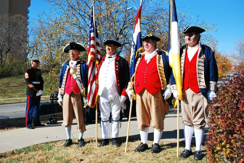 Pictured here is the MOSSAR Color Guard Team on Veterans Day 2011. The MOSSAR Color Guard team participated in the Veterans Day event located at the Vietnam Memorial in Kansas City, MO, which honors veterans of the Vietnam conflict.