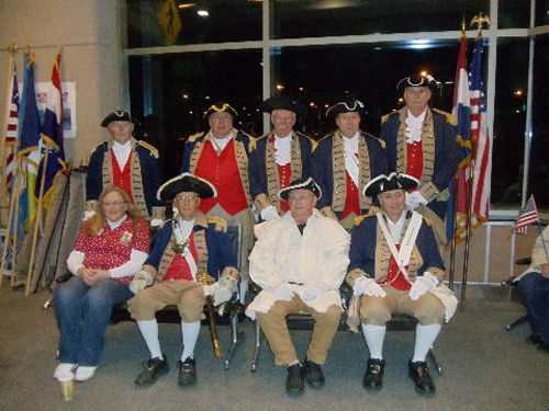 Pictured here is the MOSSAR Color Guard team from the Kansas City area, who are shown here at the Honor Flight Greeting for WW II Veterans at Kansas City International on Monday evening, November 11, 2013.