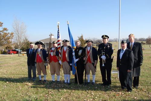 The MOSSAR Color Guard Team participated in presenting and retirement of the colors during the Wreaths Across America Ceremony on December 10, 2011. The team participated in the Wreaths Across America Ceremony located at the Swan Lake Memorial Gardens Cemetery in Grain Valley, MO, which honors Missouri veterans. The MOSSAR Color Guard team was privileged to meet Colonel Don 'Doc' Ballard, Congressional Medal of Honor Recipient after the Wreaths Across America Ceremony.