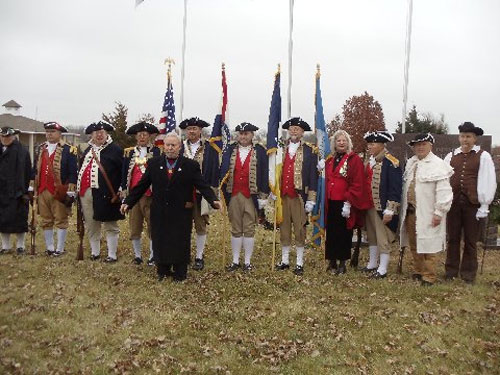 The MOSSAR Color Guard Team participated in presenting and retirement of the colors during the Wreaths Across America Ceremony on December 13, 2014. The team participated in the Wreaths Across America Ceremony located at the Swan Lake Memorial Gardens Cemetery in Grain Valley, MO, which honors Missouri veterans. The MOSSAR Color Guard team was privileged to meet Colonel Don Ballard, Congressional Medal of Honor Recipient after the Wreaths Across America Ceremony.