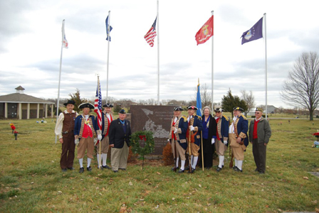 The MOSSAR Color Guard Team participated in presenting and retirement of the colors during the Wreaths Across America Ceremony on December 15, 2012. The team participated in the Wreaths Across America Ceremony located at the Swan Lake Memorial Gardens Cemetery in Grain Valley, MO, which honors Missouri veterans. The MOSSAR Color Guard team was privileged to meet Colonel Don Ballard, Congressional Medal of Honor Recipient after the Wreaths Across America Ceremony.