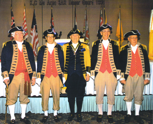 Pictured here is the MOSSAR Color Guard Team taken at the 8th Annual George Washington Birthday Celebration in Kansas City, MO on February 19, 1994