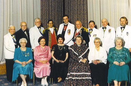 The MOSSAR Color Guard, MOSSAR members, and spouses  are shown here attending the 104th NSSAR Congress in New Orleans, Louisiana on June 9, 1994.