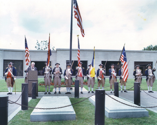 The MOSSAR and KSSSAR Color Guard participated in a ceremony to honor President Harry S. Truman in Independence, Missouri on Monday, July 4, 1994.