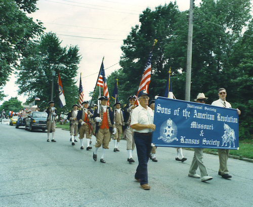 The MOSSAR and KSSSAR Color Guard participated in a patriotic parade in Independence, Missouri celebrating the 218th Fourth of July Celebration on Monday, July 4, 1994.