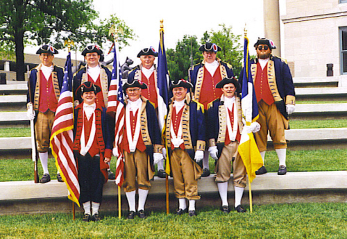The MOSSAR Color Guard team is shown here during the Salute to Veterans on May 25, 1998 Memorial Day Parade, Columbia MO