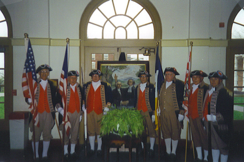 The MOSSAR Color Guard team officiated as the Color Guard during the William Jewell College Gano Chapel Sesquicentennial Celebration on April 15, 1999 in Liberty, MO
