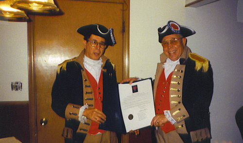 MOSSAR Color Guard Team attending the City of Kansas City, MO Council Docket Meeting - Resolution 000229 on Thursday, February 22, 2000, as George Washington Day in Kansas City