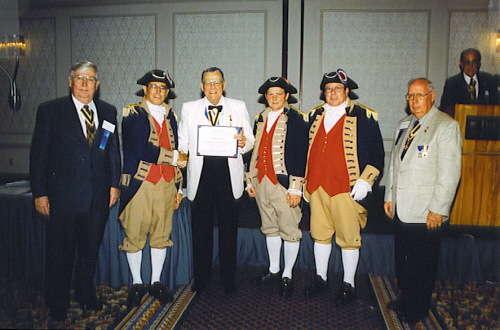The MOSSAR Color Guard team is shown here while attending the 110th Annual Congress NSSAR in Boston, MA on June 24 - June 27, 2000