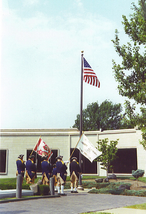 The MOSSAR Color Guard team during the wreath-laying ceremony event at the Harry S. Truman Library in Independence, MO on August 5, 2000 at 11:00 AM