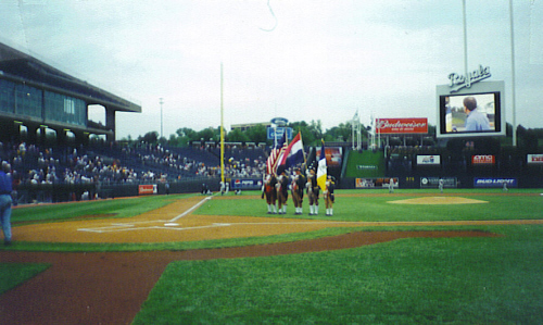 On May 4, 2001 over 16,000 Kansas City Royals baseball fans witnessed a well-executed performance by the MOSSAR Color Guard team
