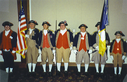 MOSSAR Color Guard Team at the 112th MOSSAR Annual State Meeting in Columbia, MO on April 29, 2002