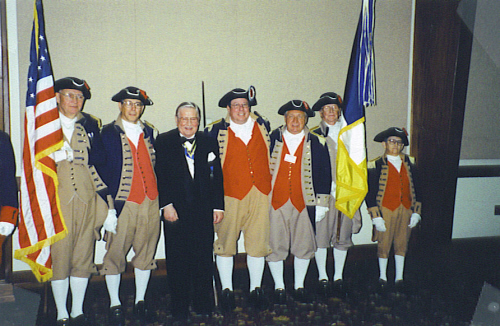 MOSSAR Color Guard Team at the 112th MOSSAR Annual State Meeting in Columbia, MO on April 29, 2002.