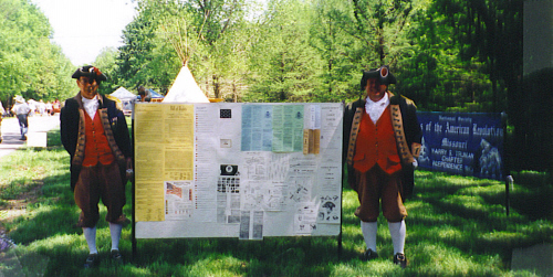 MOSSAR Color Guard team at Pomme de Terre Dam on May 4 -5, 2002