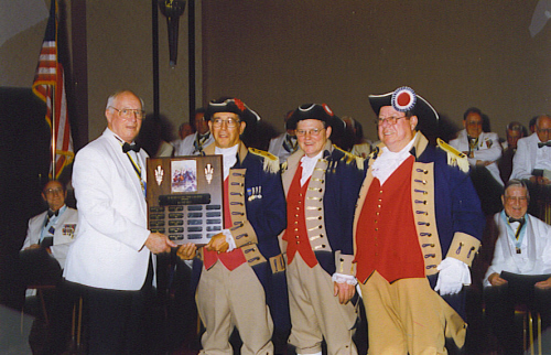 MOSSAR Color Guard team at the Awards Night during the 112th Annual NSSAR Congress which was held in Nashville, TN on July 1, 2002.