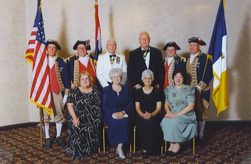 MOSSAR Color Guard team and spouses at the 112th Annual NSSAR Congress which was held in Nashville, TN on July 1 - 2, 2002