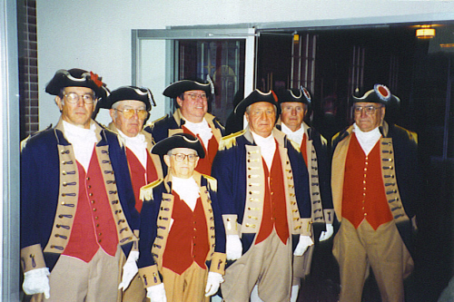 MOSSAR Color Guard team attend the funeral of Sterling Goddard at St. Matthew Presbyterian Church in Grandview, MO on October 13, 2002