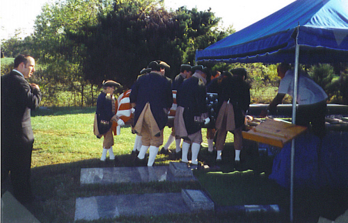 MOSSAR Color Guard team attend the Internment of Sterling Goddard at Urich Cemetery, Urich, MO on October 13, 2002